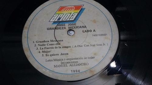 grandeza mexicana jose jose lp vinilo balada