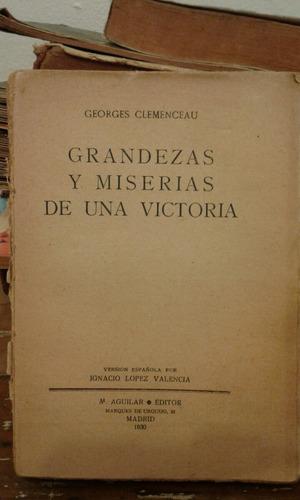 grandezas y miserias de una victoria georges clemenceau