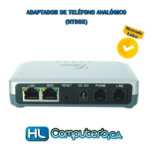 grandstream ht503 1fxs 1fxo telf analogico - linea pstn voip
