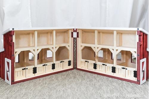 granero casa de muñecas barn dollhouse 70x50x40