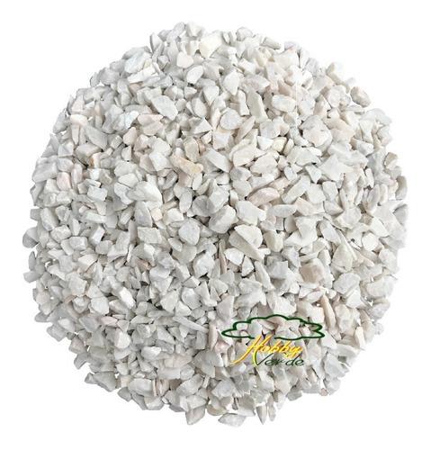 granitina branca pedrisco decoração vaso terráreo nº 02 2kg