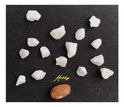 granitina branca pedrisco para aquário e vasos nº 01  5 kg