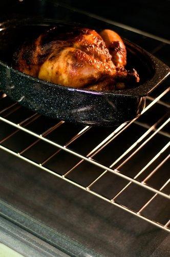 granito ware 6106-2 de 13 pulgadas cubierta ovalada tostado