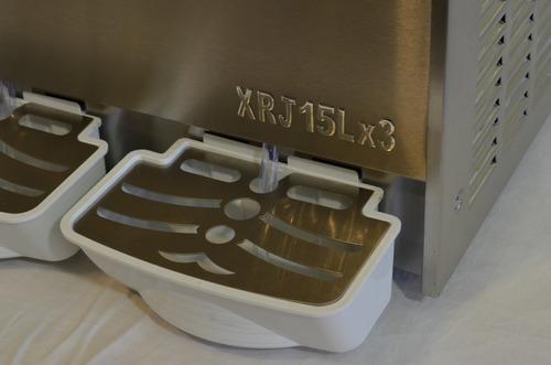 granizadora de jugo 3 x 15 lt. maquina granitas. nicecream