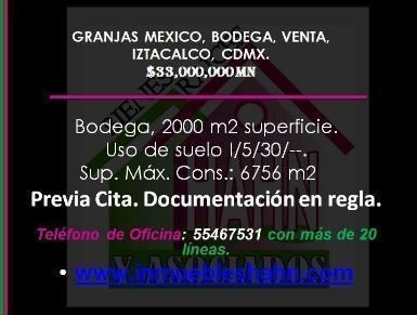 granjas mexico, bodega, venta, iztacalco, cdmx.