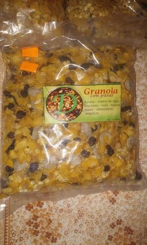 granola con o sin pasas de uva
