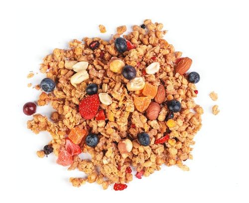 granola de autor de quinoa y frutilla 1/2k ver ingredientes