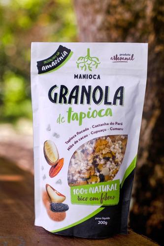 granola de tapioca 200g manioca, 100% natural e vegana