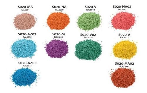 granulo de caucho de color (epdm) para areas infantiles