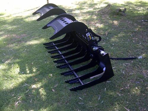 grapa - garra para minicargardoras - movimiento de ramas