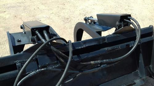 grapa hidraulica chatarrera para minicargador bobcat