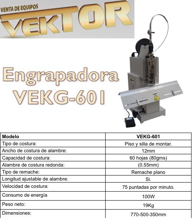 Grapadora De Caballo Vekg-601 - U$S 1,799.00 en Mercado Libre