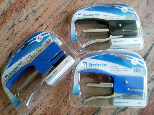 grapadoras de metal stapler + 1000 grapas. leer descripcion