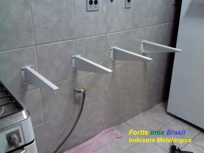 Grapas De Ferro, Suporte Pia Lavatório Par (kit P Instalar)  R$ 45,00 em Me -> Como Colocar Pia De Banheiro Na Parede