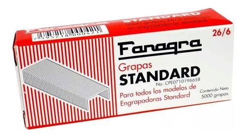 grapas lisas fanagra standard 26x6 5000uni