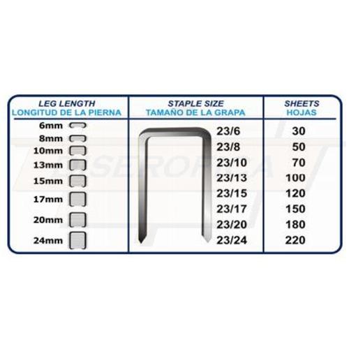 grapas para engrapadora industrial 23/12 90 hjs 1000 grapas