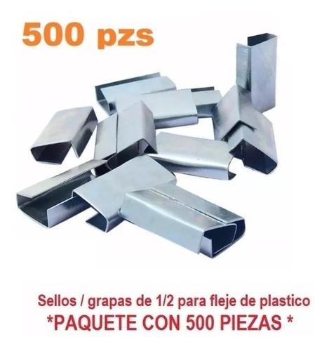 grapas sellos 1/2 para fleje de plastico 500 pzs envio grati