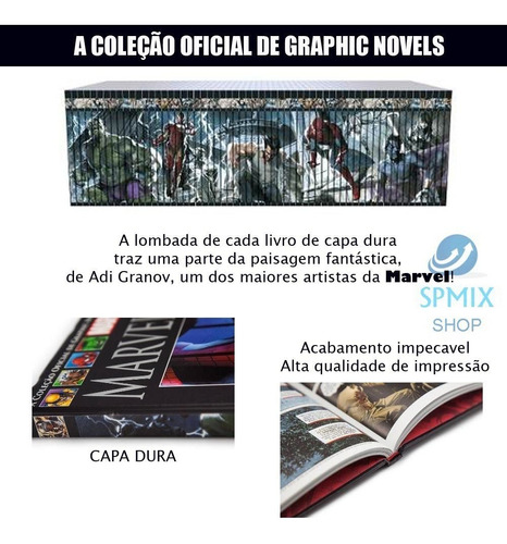 graphic novels marvel hq coleção capa dura preta salvat