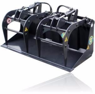 grapo industrial, para minicargador, compatible