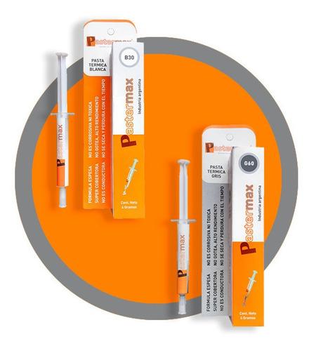 grasa siliconada pastermax para cpu g60 (gris) pasta termica