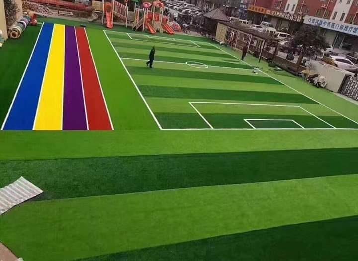 Grass Sintetico Para Cancha De Fútbol Jardines Y Terrazas