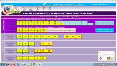 grátis - lotofacil acertar 15 pontos, com apenas 4 jogos!