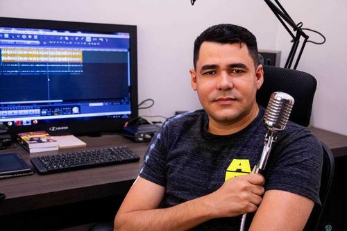 gravação de off - produção de áudio - locutor