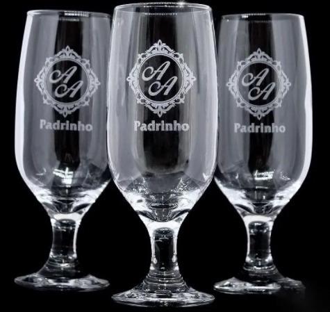 gravação em vidro - taças, copos e canecas para eventos