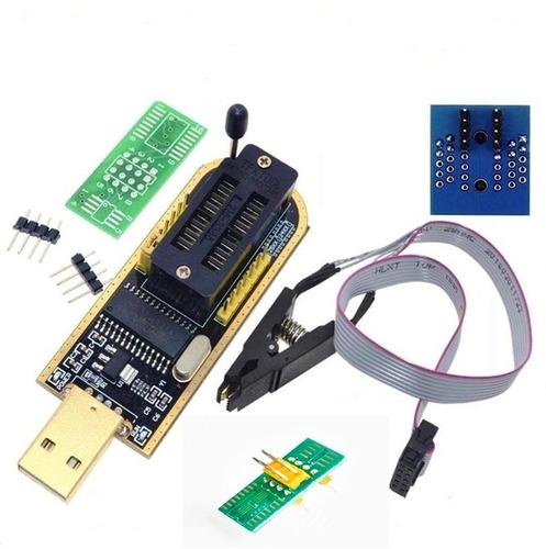 gravador adaptador programador eprom usb ch341+pinça+ 200mil