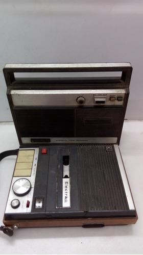 gravador antigo elactra, duas peças, leia.