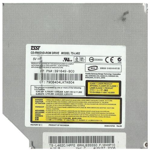 gravador cd leitor dvd cd-rw ts-l462d  416185*8c0 hp dv6000