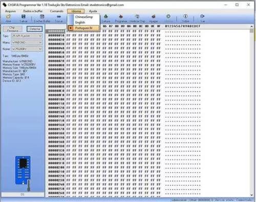 gravador ch341a ch341 bios eprom flash spi portugues 25xx 24