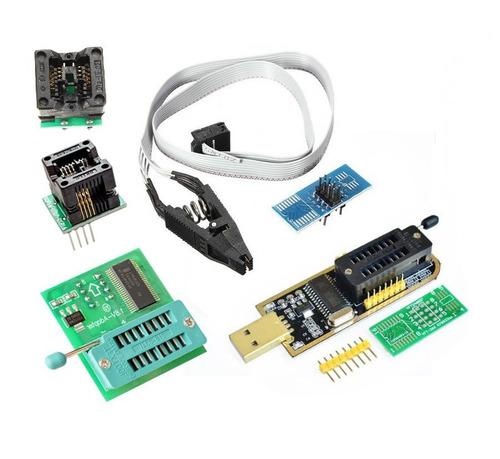 gravador ch341a ch341 + pinça soic + adaptadores + 1.8v
