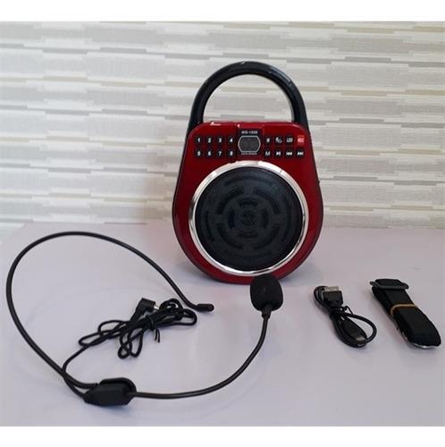 gravador com radio fm digital usb sd microfone led karaoke