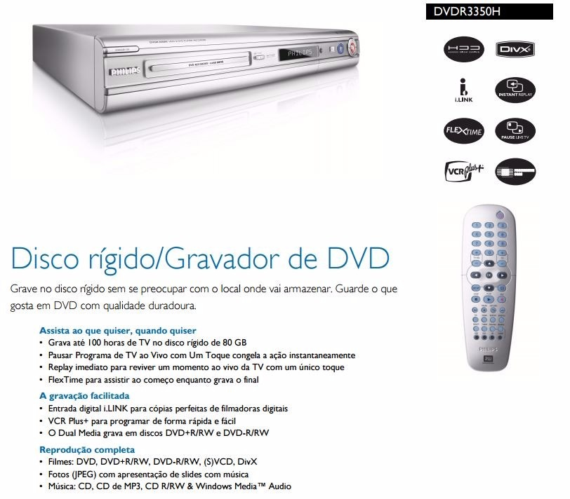Philips DVDR3350H/55 DVD Player Driver Download