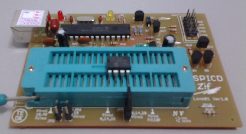 gravador de pic pickit2 com soquete zif
