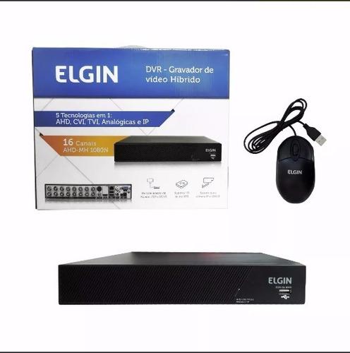 gravador de vídeo dvr 16 canais 5 em 1 1080n cvi tvi - elgin