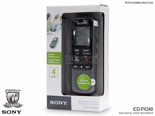 gravador de voz digital mono sony icd- px 240 original