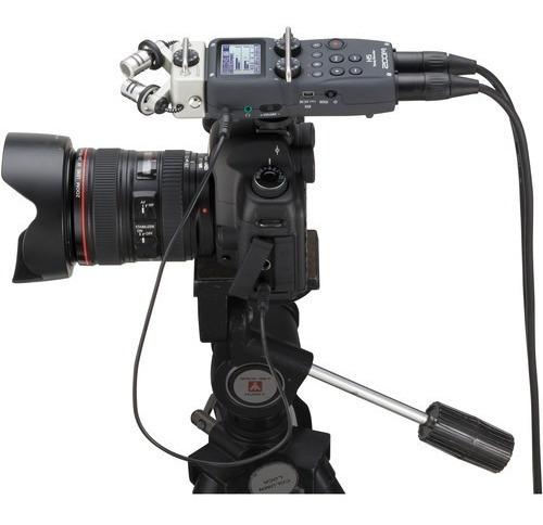 gravador digital zoom h5 4 canais + acessorios + case