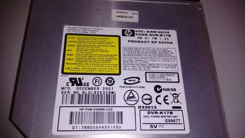 gravador dvd notebook hp dv6000 series