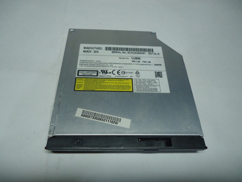 gravador dvd uj-890 notebook toshiba satellite l645d s4056