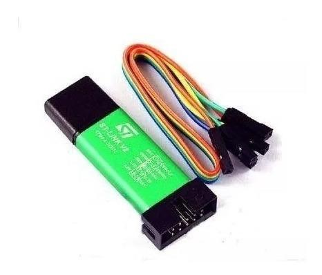gravador e programador st-link v2 stm8 stm32 verde