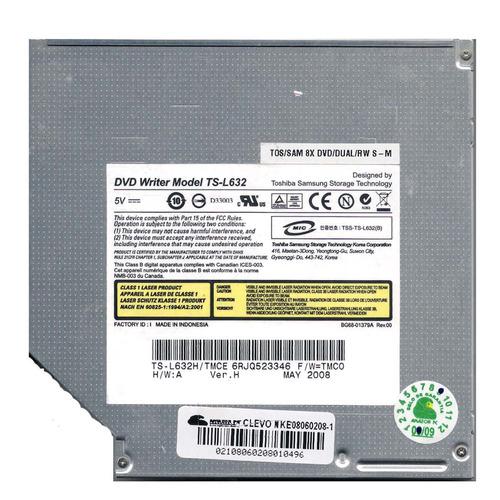 gravador leitor cd dvd ts-l632h positivo z64