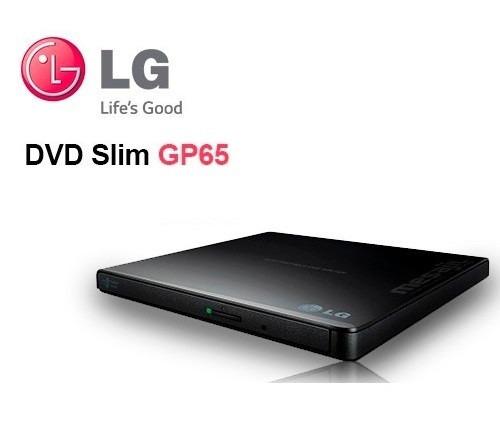 gravador leitor dvd cd externo preto lg usb slim portatil