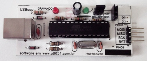 gravador microcontrolador at89s52 at89s51 at89s8252 usb