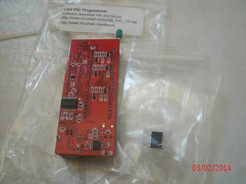 gravador pic micro controlador programador soquete zif usb