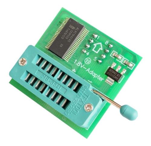 gravador programador ch341 + pinça soic + adaptadores + 1.8v