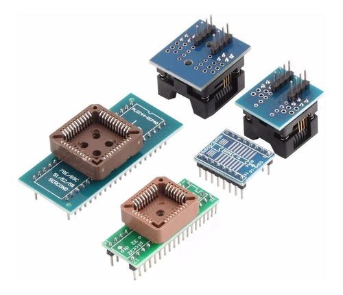 gravador programador tl866cs bios eprom flash + adaptadores