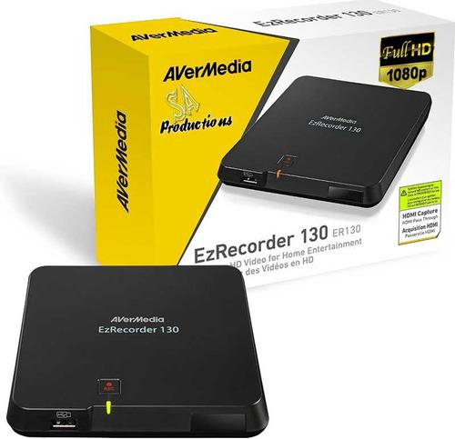 gravador video avermedia ezrecorder 130hd + conversor + hdcp