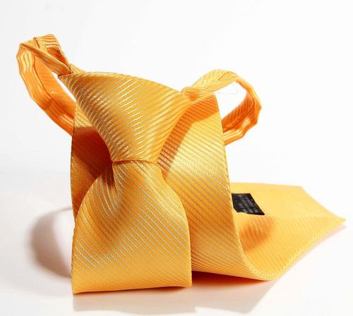 gravata amarela trabalhada para pastores formatura
